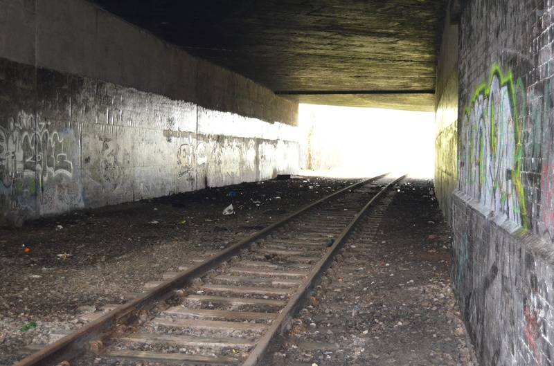 Inside the A5 tunnel, in the direction of Hammerwich