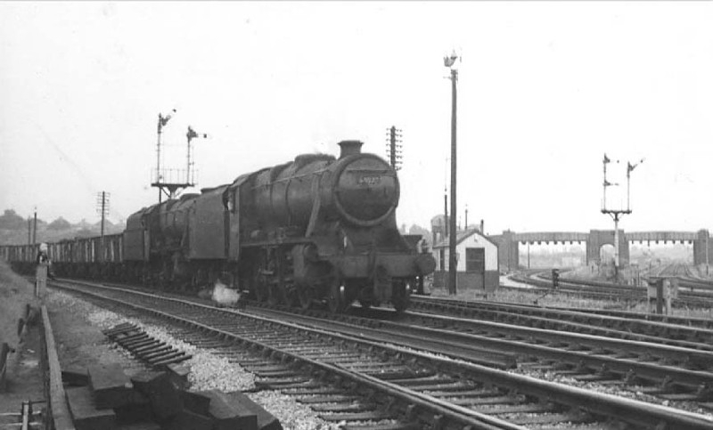 A freight Locomotive heads towards Walsall from the Chase Line