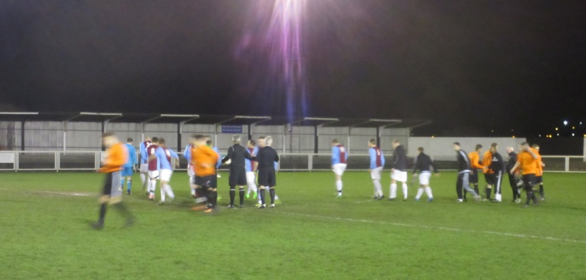 Hand shakes before kick off
