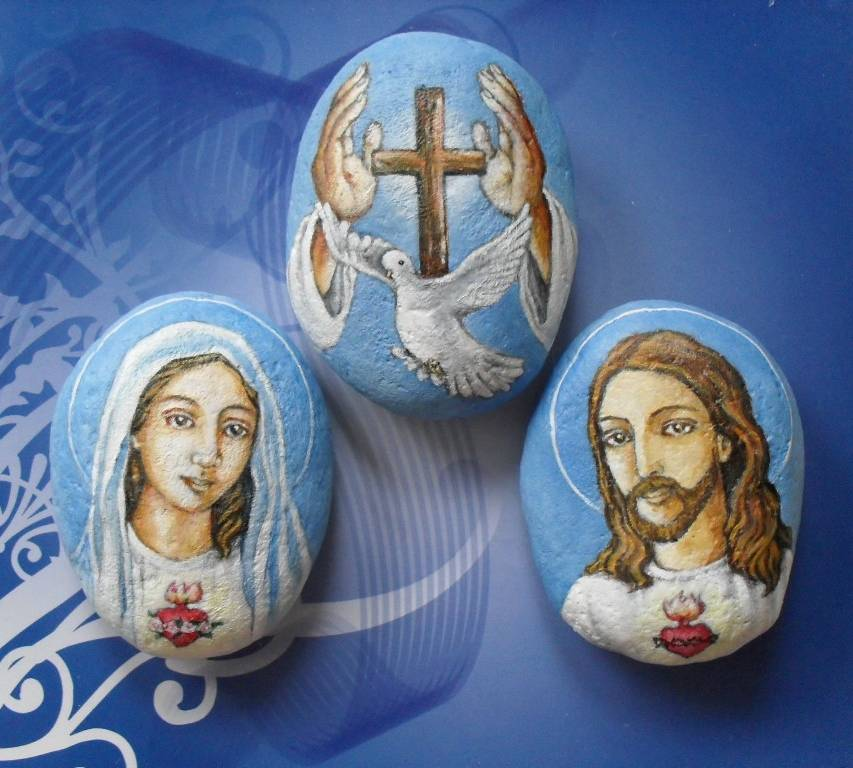 The Sacred Heart of Mary, The Holy Trinity, The Sacred Heart of Jesus