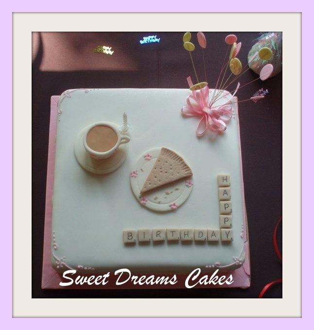 scrabble taart
