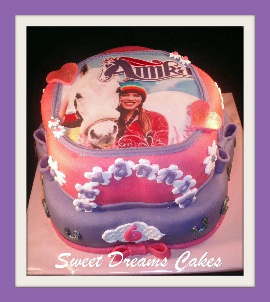 Amika foto taart