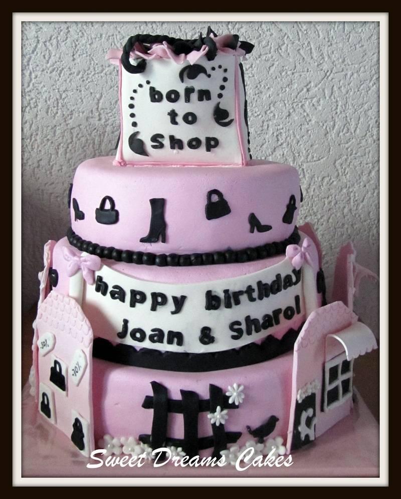 Shopaholic taart