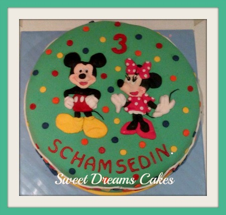 Mickey & Minnie mouse taart
