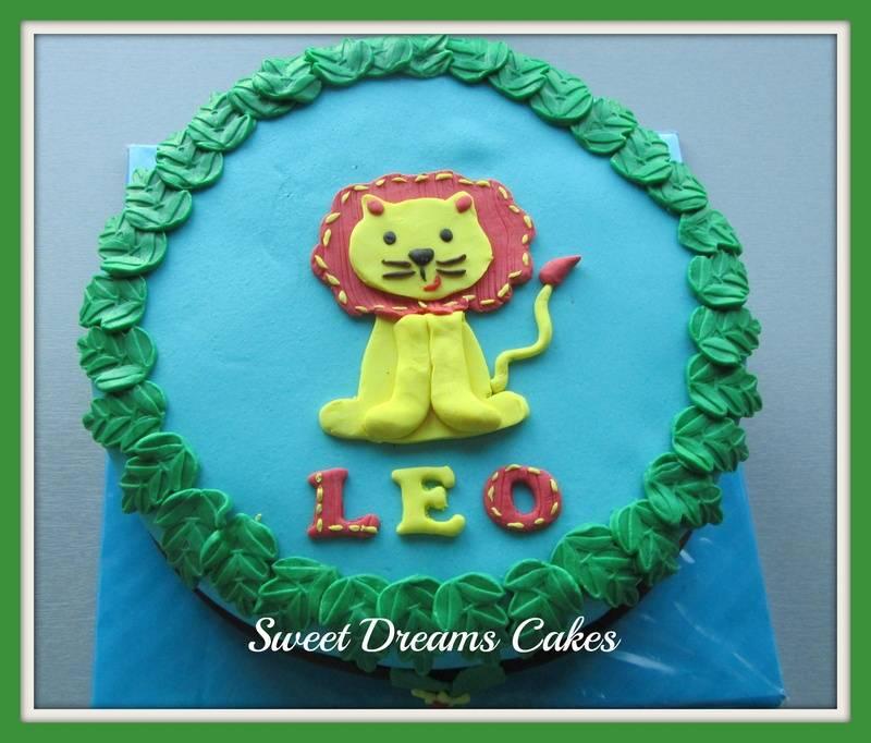leeuw taart