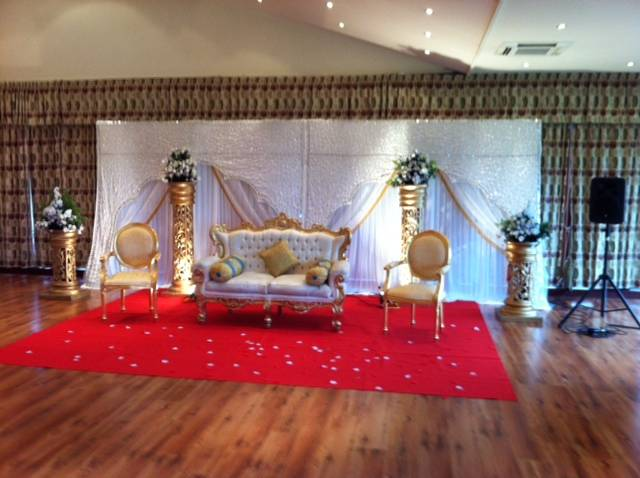 Asian wedding reception in essex
