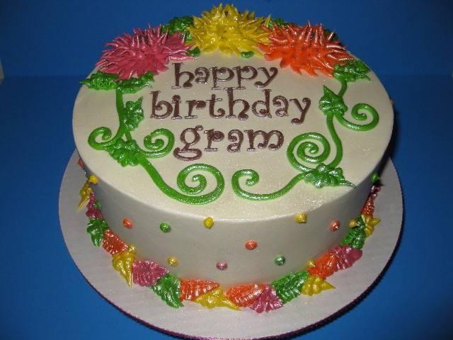 Gram's Butter Cream Birthday Cake