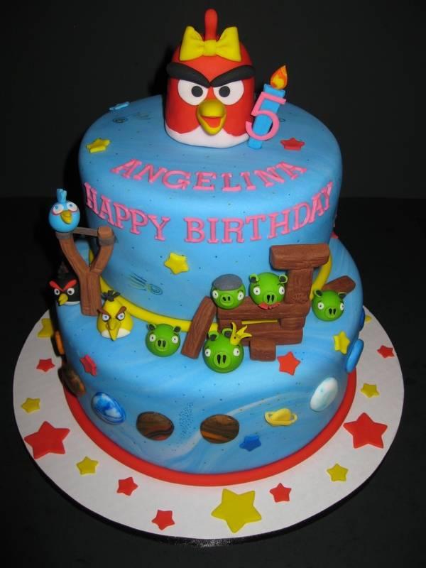 Angelina's Angry Birds Birthday Cake