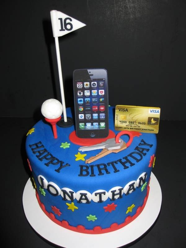 Jonathan's 16th Birthday Cake