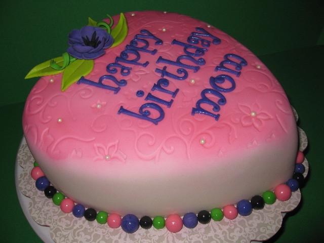 Hear Shaped Mom's Birthday Cake