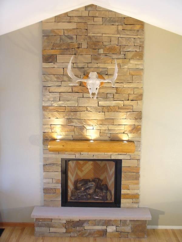 Virginia Ledgestone Fireplace