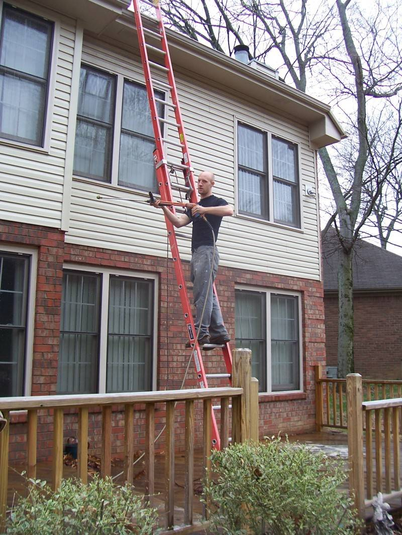 Jeremy pressure washing siding