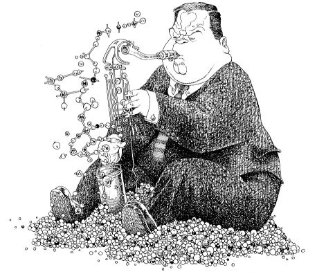 Drawing of Tubbs by Alastair Graham