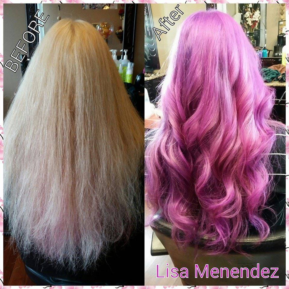 Color using pinks and purples