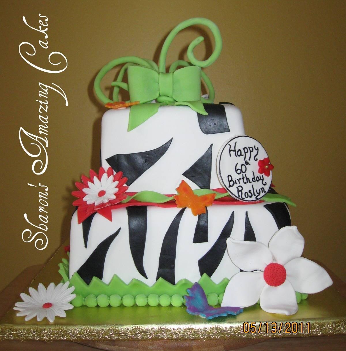 CAKE 29A1 -Daisies & Butterflies Cake