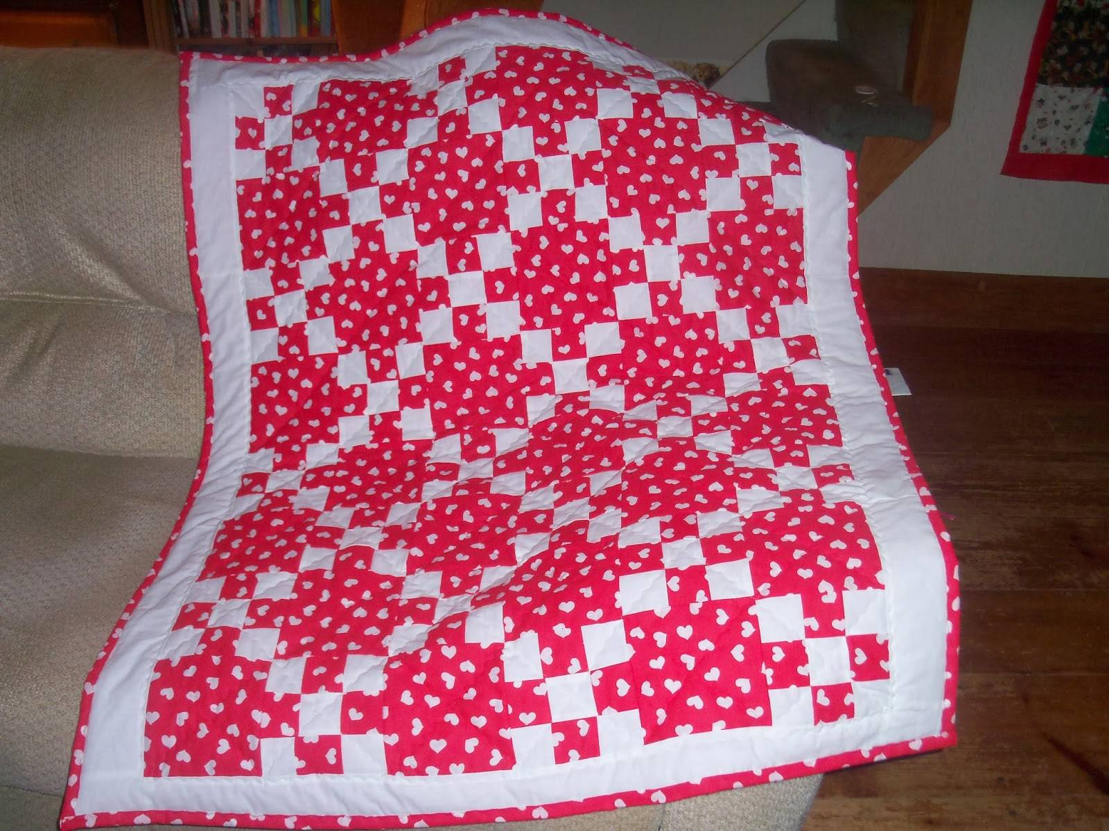 First: Valentine Quilt for the Shop