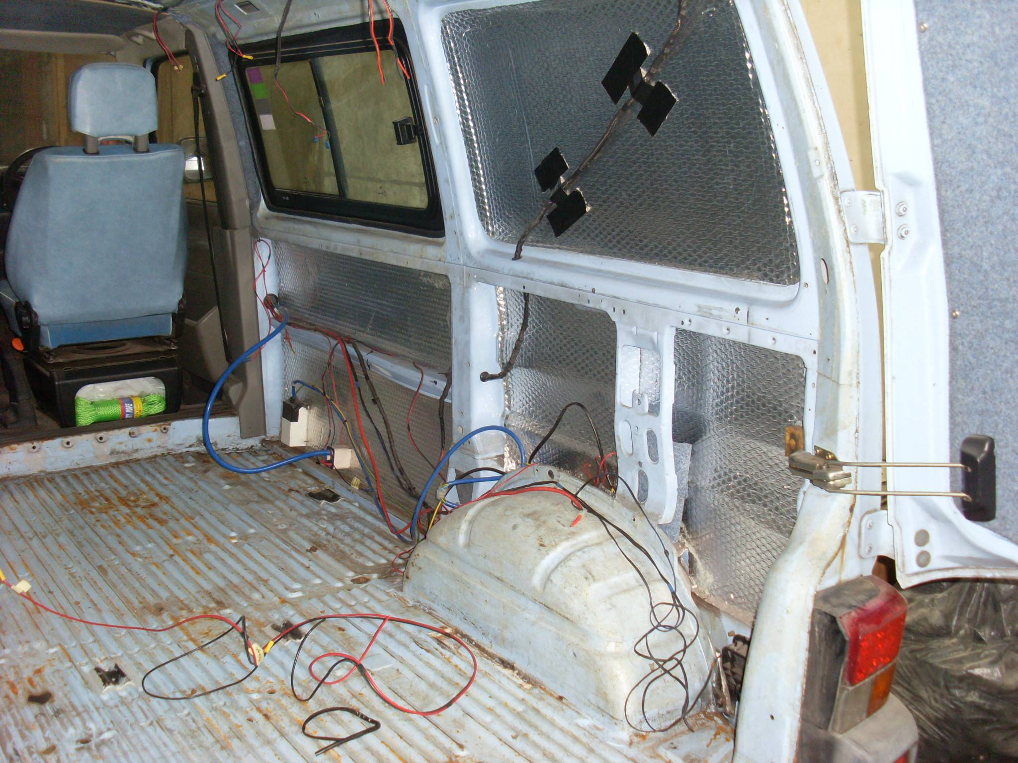 VW T4 refurb, strip out inside.