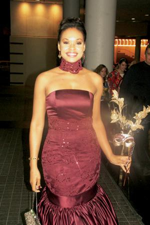 Demetria Mckinney & Her Mask At The 25th Anniversary UNCF Mayor's Masked Ball