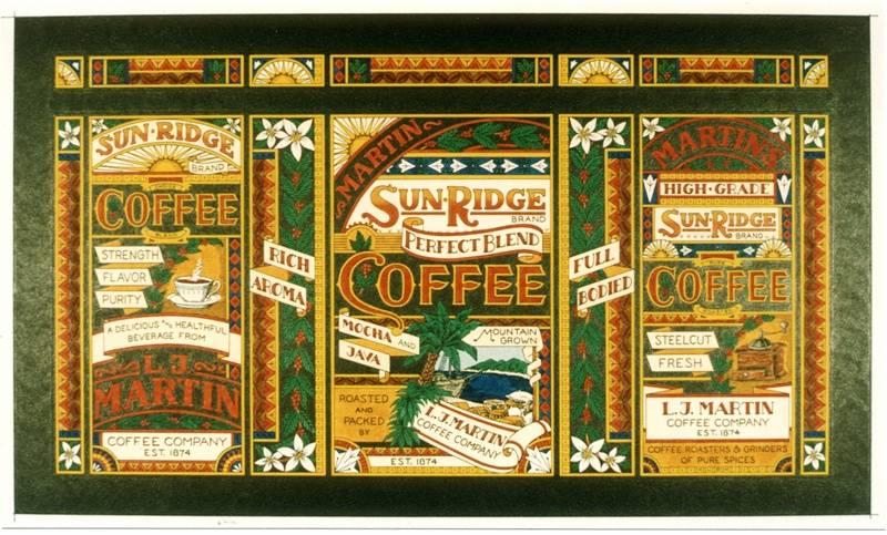 Coffee tin label (Nostalgia series)