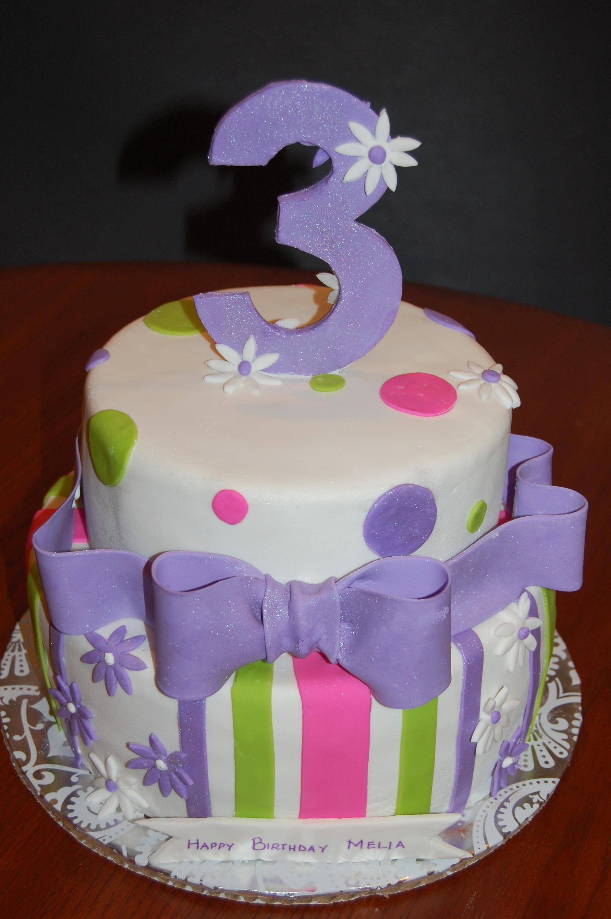Third birthday Cake