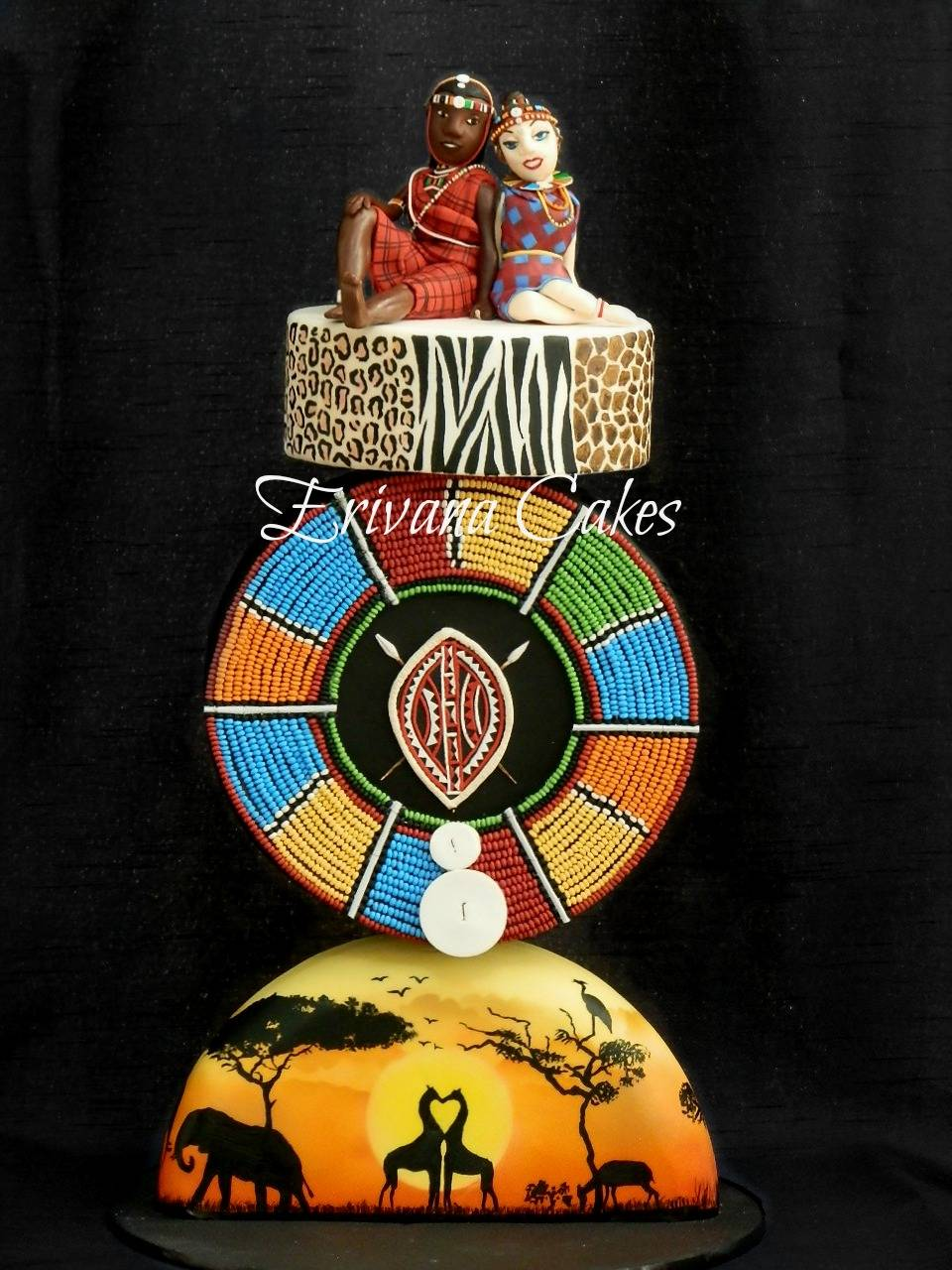 Gravity Defying - African Themed Cake
