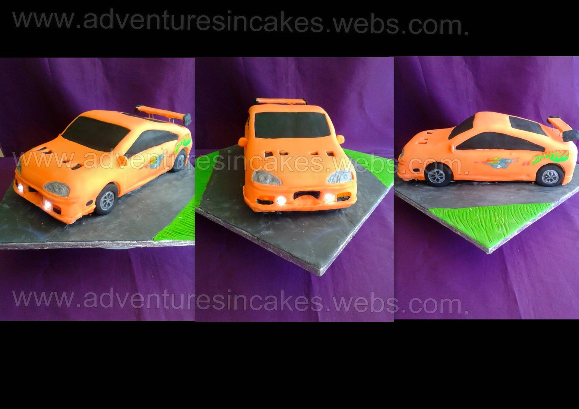 Car Cake with real working lights
