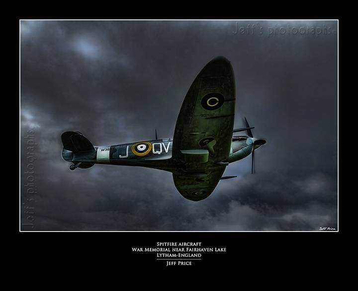 Spitfire Aircraft War Memorial near Fairhaven Lake-Lytham-England
