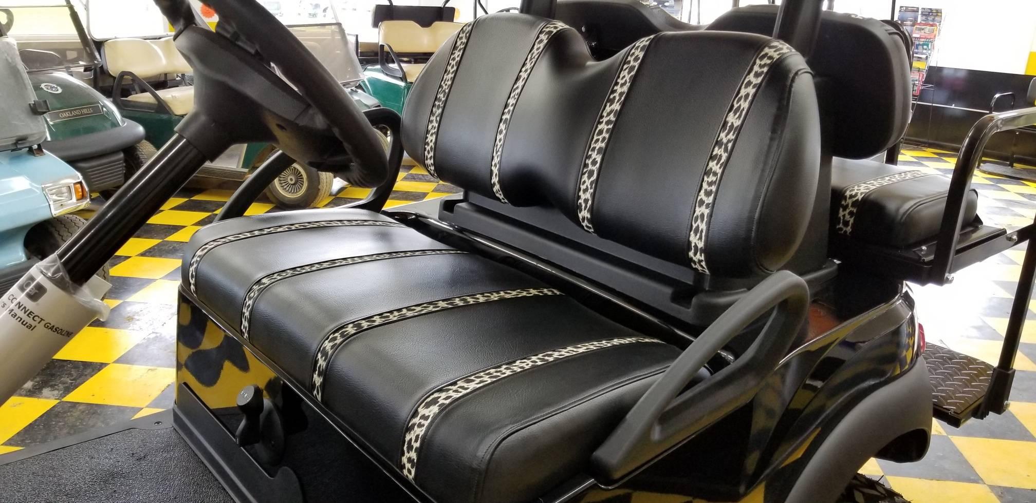 Leopard print seats