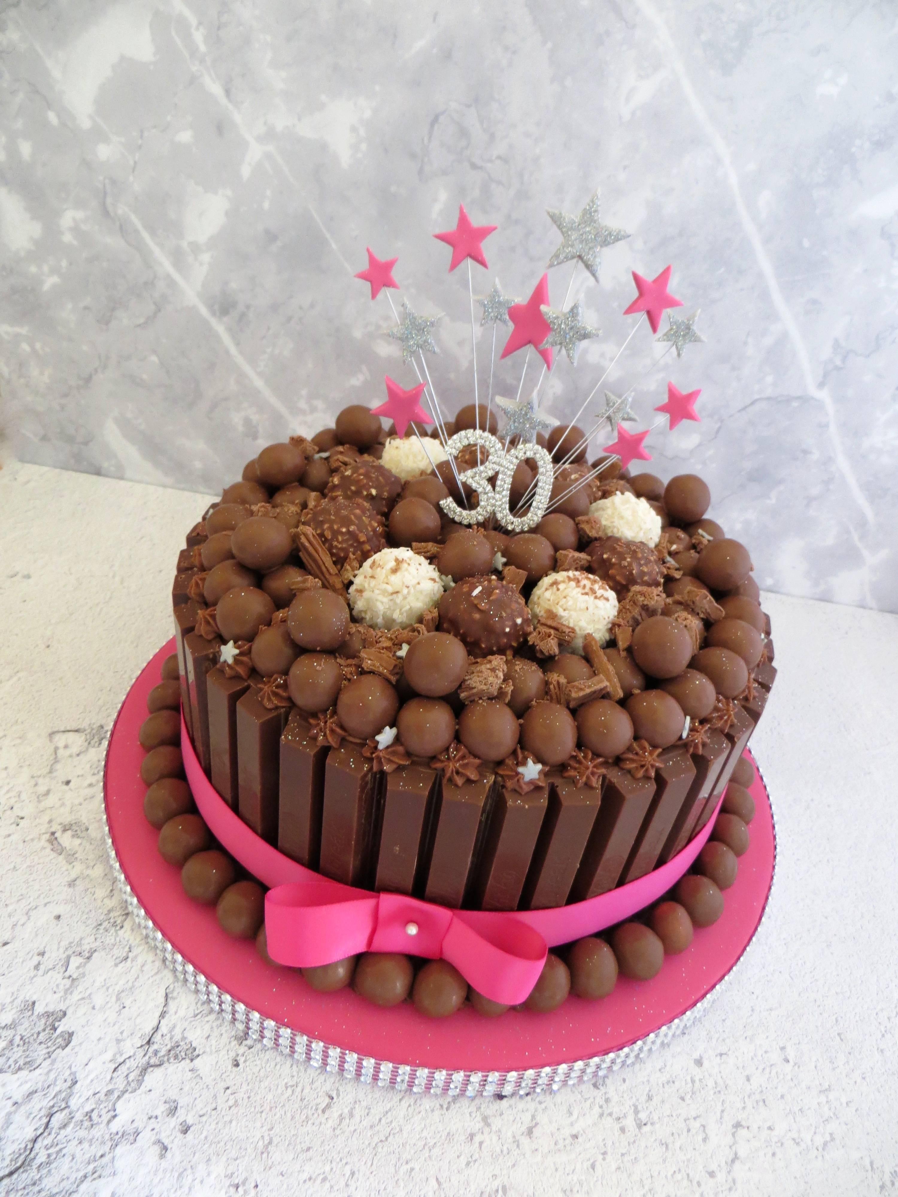 30th birthday chocolate cake