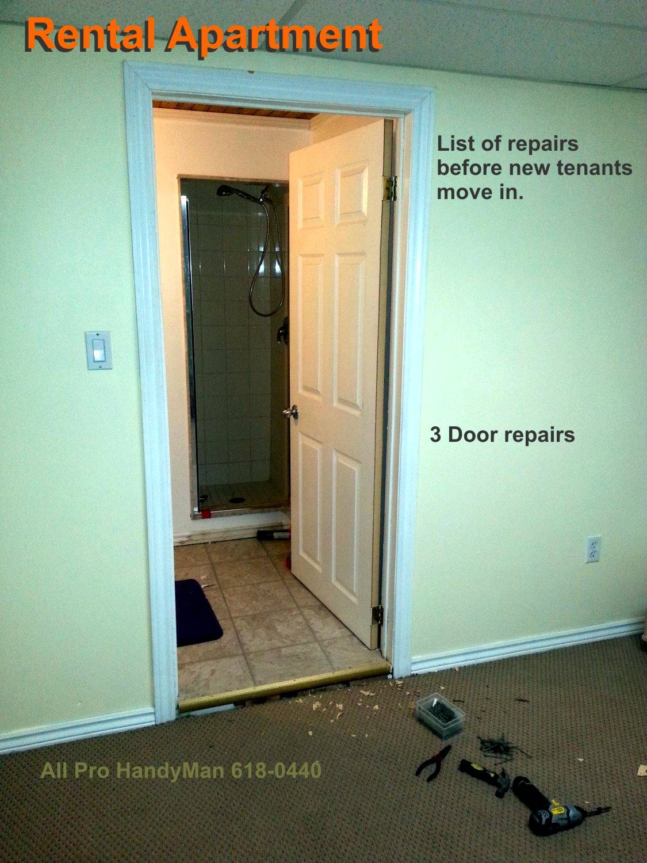 Rental apartment repairs