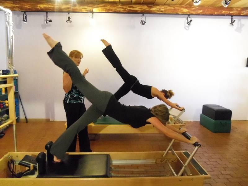 Duet Class on the Pilates Reformer