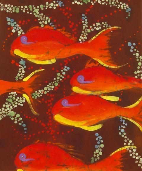 Orange Coral Reef Fish
