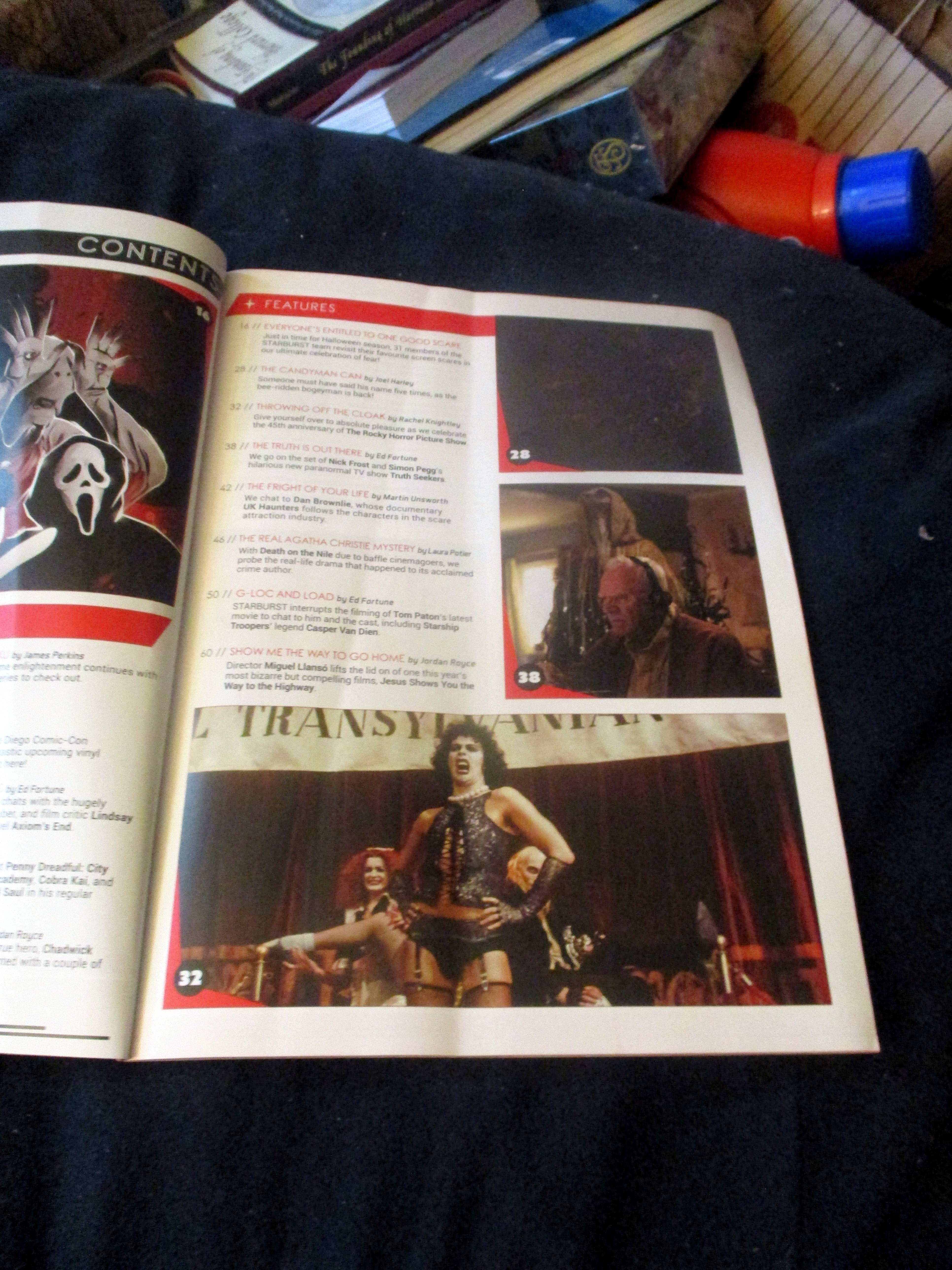 Page with Table of Contents in Starburst Magazine #474: Everyone's Entitled to One Good Scare Collectors' Edition at The Wombatorium 2.0: A Capital Idea