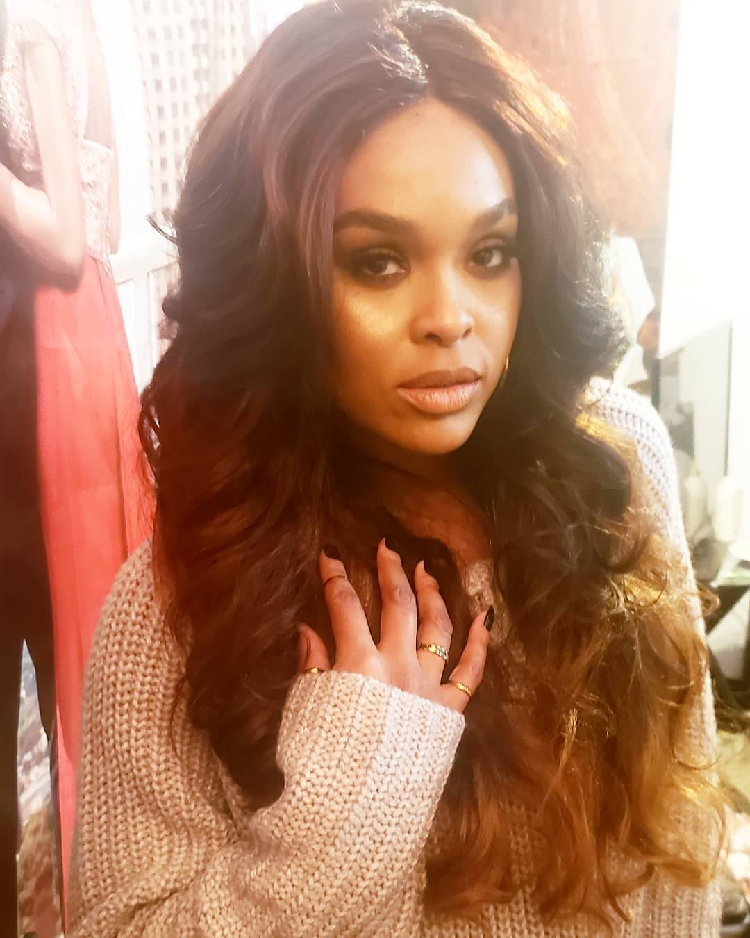 Demetria McKinney behind the scenes with Will Sterling Photography - November 4, 2018