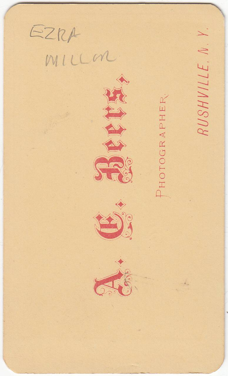 A. E. Beers, photographer of Rushville, NY - back