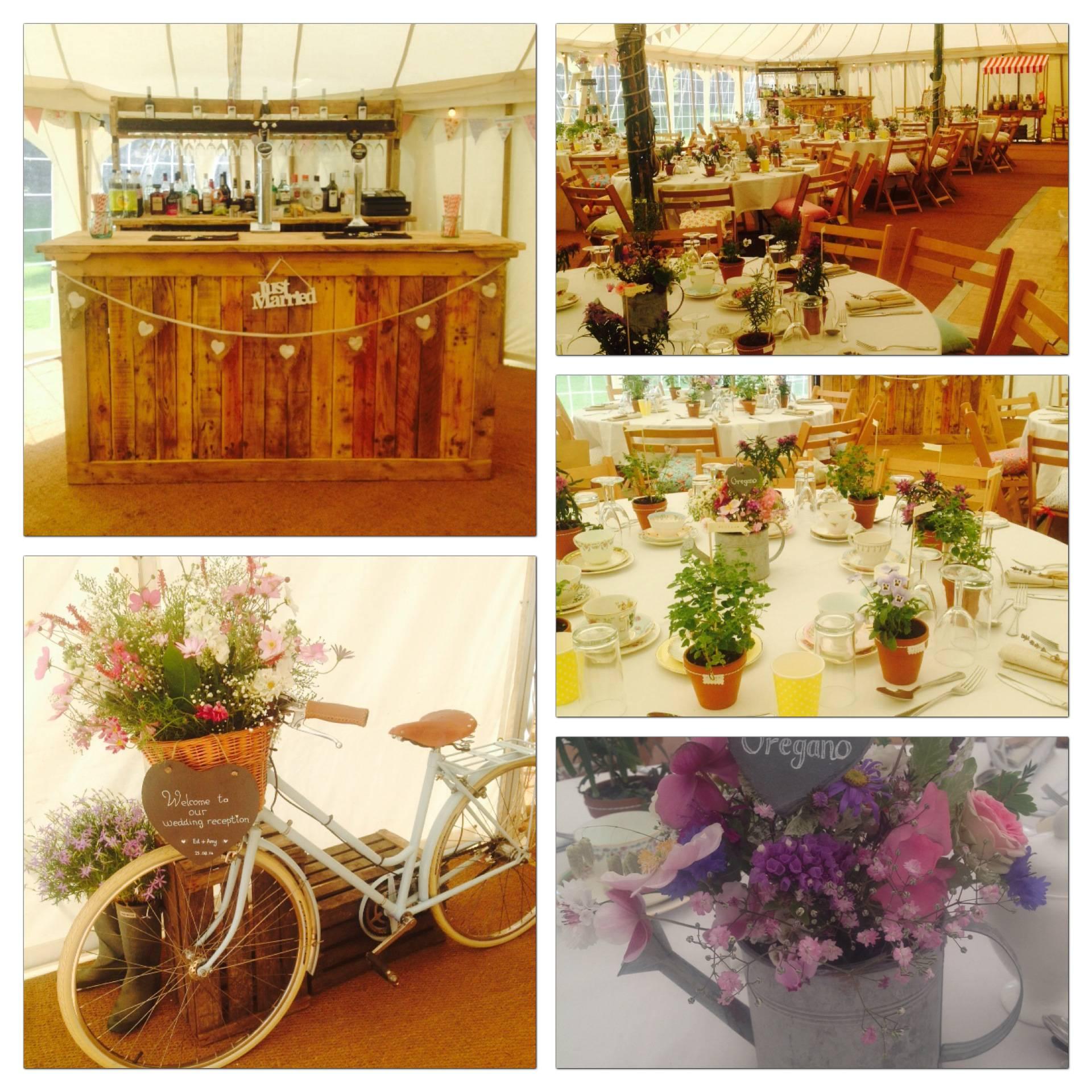 Beautiful country garden wedding