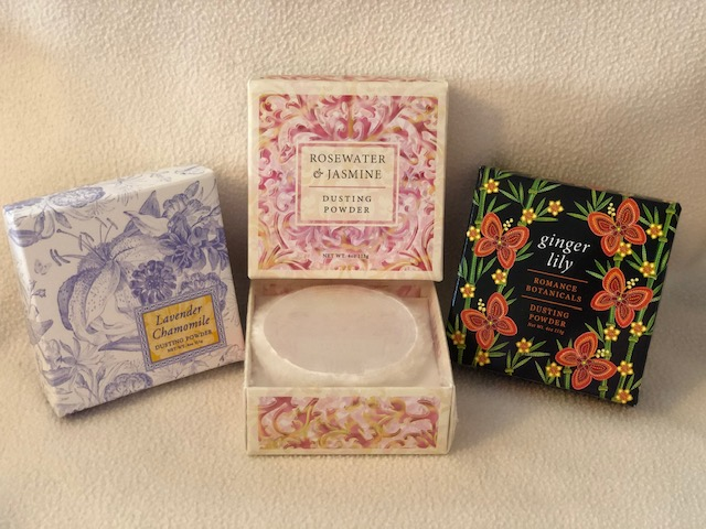 Natural, NO TALC , Boxed Body Powder With PUFF