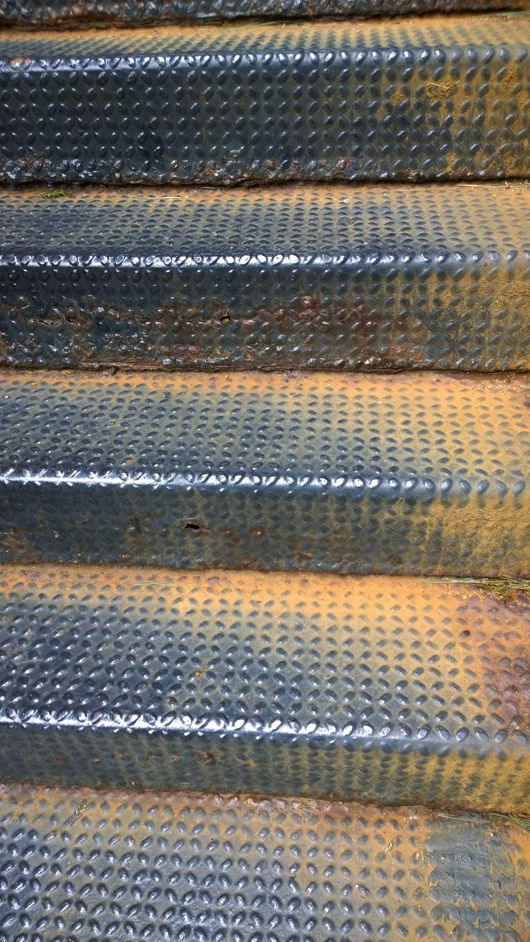 Before Image 2: Color Galvanized Staircase Replacement