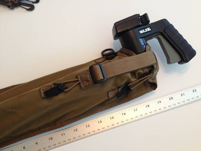 Large tripod and scabbard with grip head
