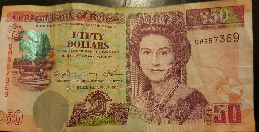 BELIZE CURRENCY, QUEEN ELIZABETH, 2nd IS HEAD OF STATE
