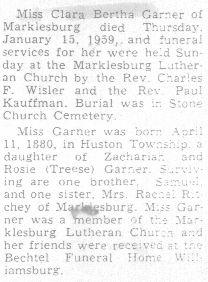 Garner, Clara Bertha 1959