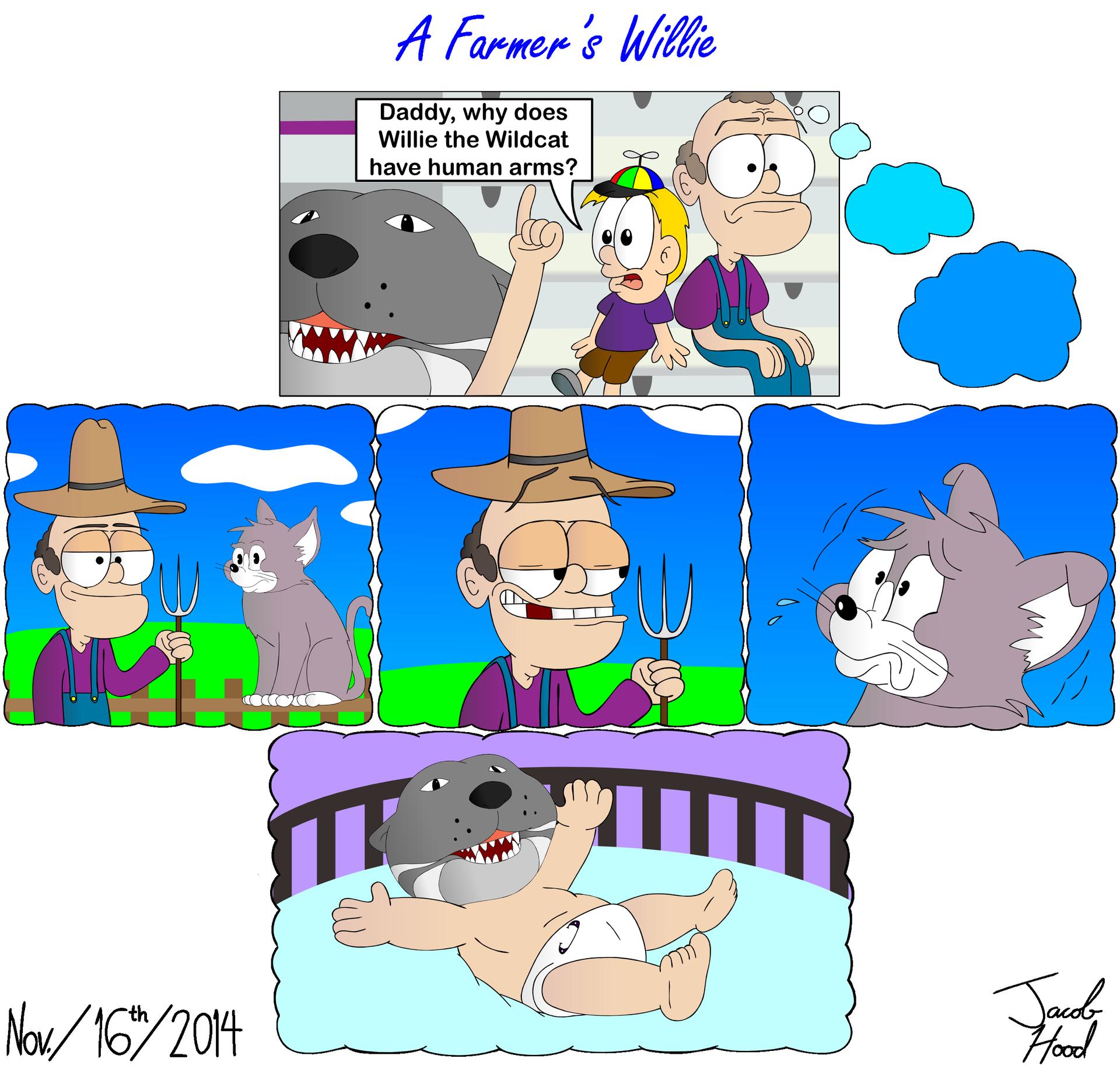 A Farmer's Willie (K-State Cartoon)