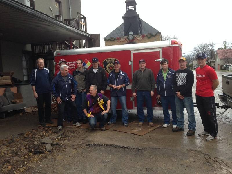 Ilderton Firefighters Harvest Food Drive November 2013