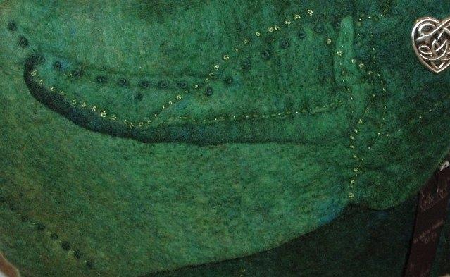 'Celtic Heart' felt bag