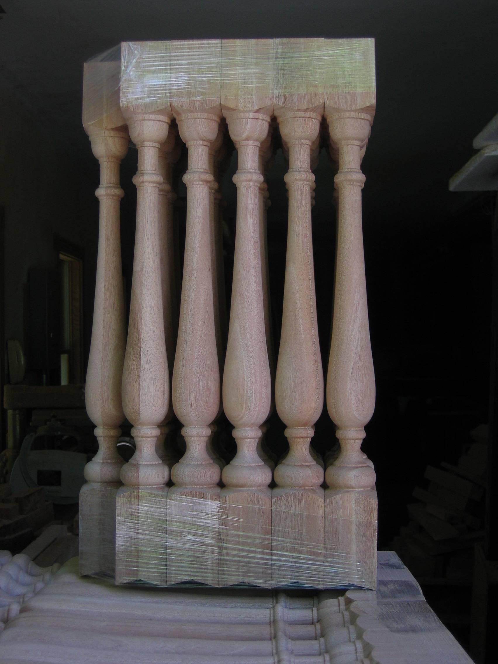 mahogany balusters