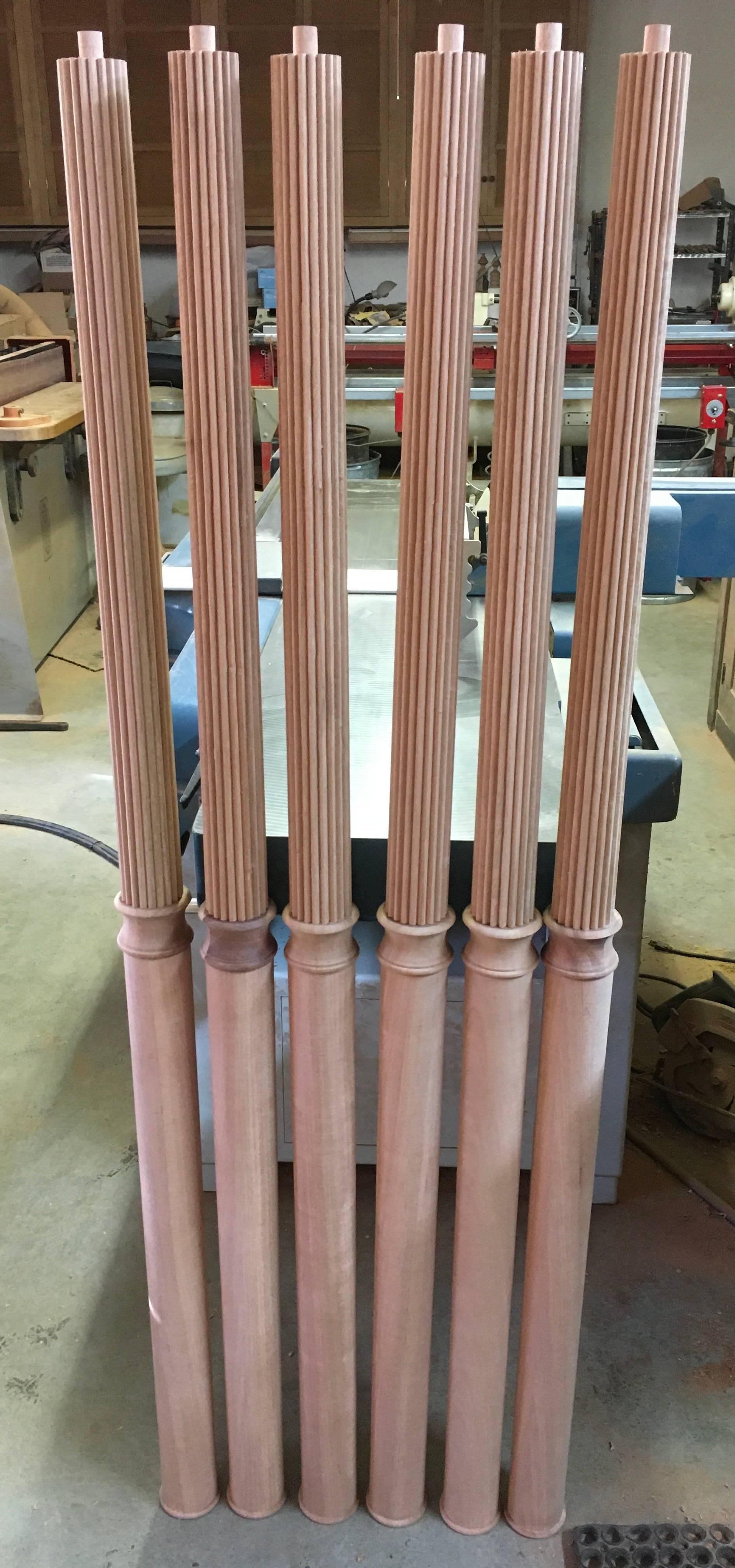 Reeded columns