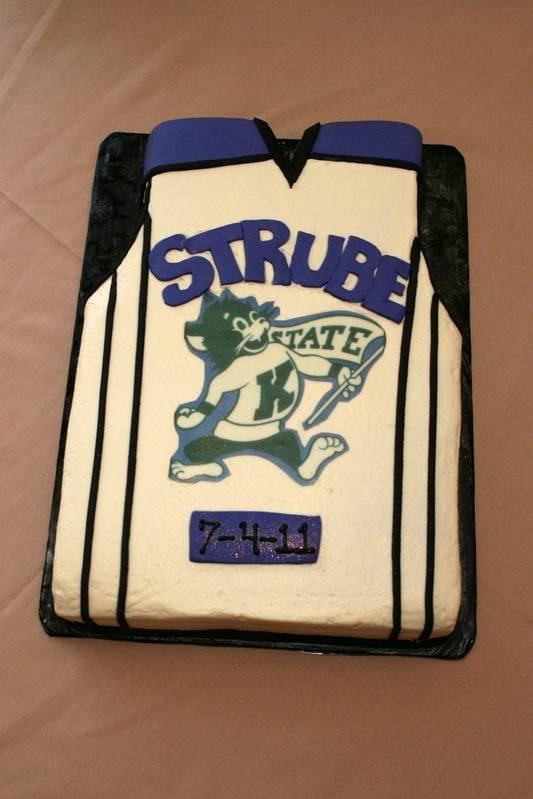 Groom's Jersey Sheet Cake