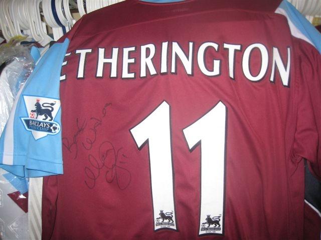 Worn and signed Matty Etherington