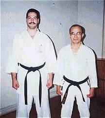 A young Sensei Morales with Shinzato Shihan
