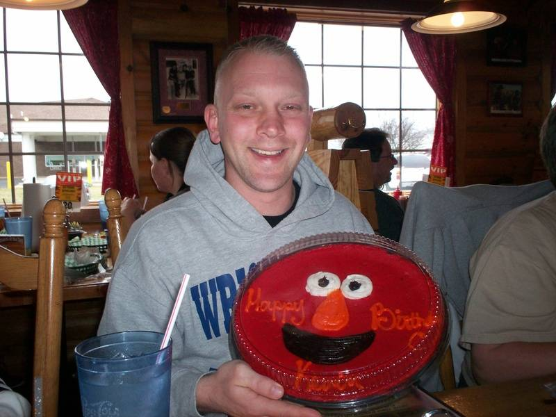 Kevin with his Birthday cookie
